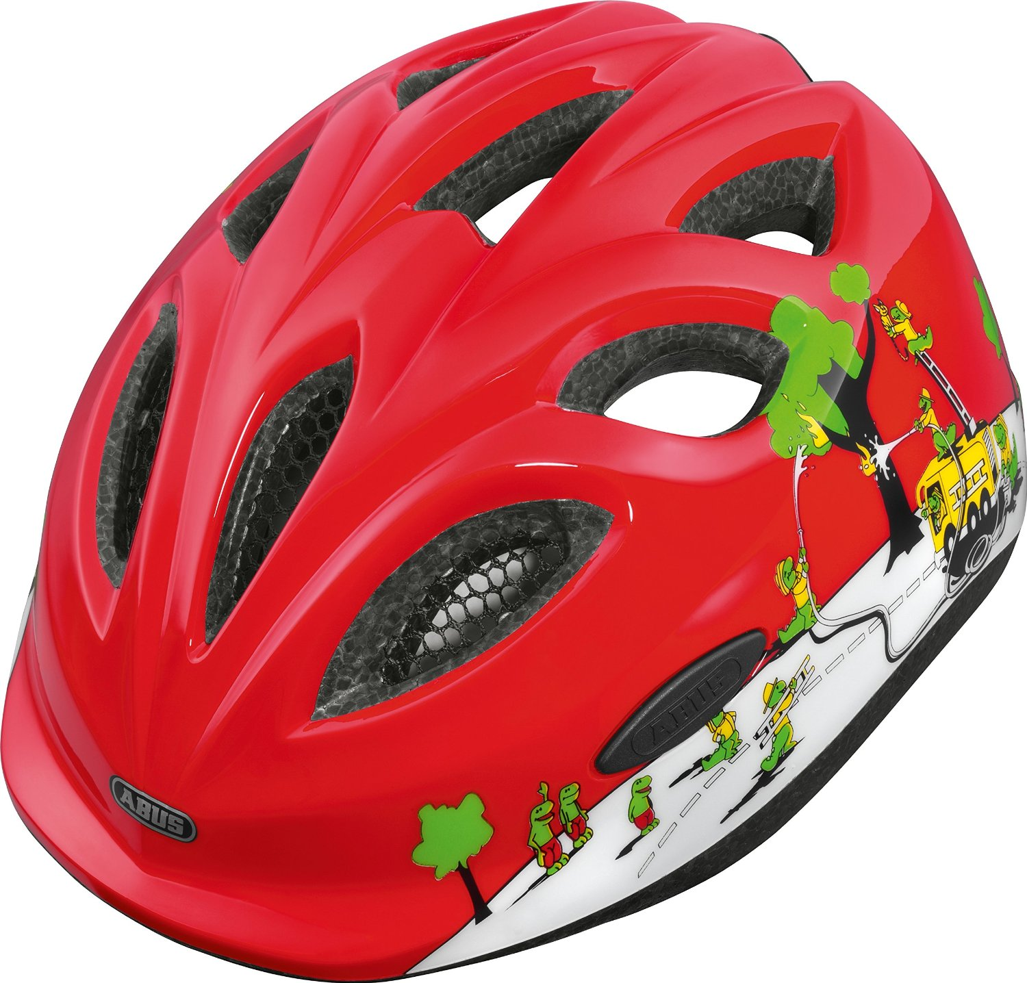Abus Kinderhelm Fahrradhelm Smiley Croco Fire